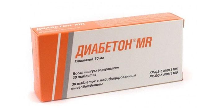 Таблетки Диабетон в упаковке
