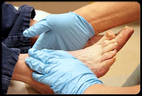 Фото обследования ног
