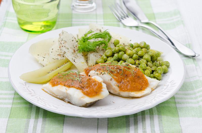 Еда, приготовленная на пару