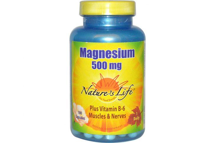 Магний, 500 мг в капсулах от Nature's Life