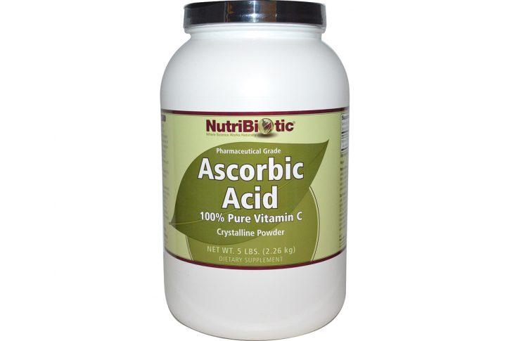 Аскорбиновая кислота, 100% чистый витамин С, кристаллический порошок от NutriBiotic