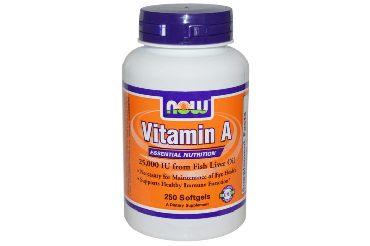 Витамин А, 25 000 ме в гелевых капсулах от Now Foods
