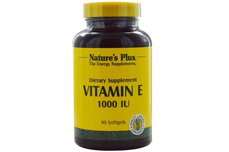 Витамин E, 1000 МЕ, в гелевых капсулах от Nature's Plus