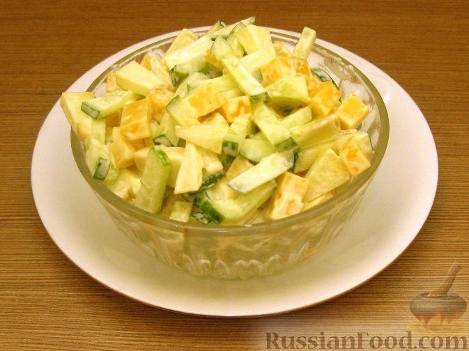 салат из яблок и огурцов для диабетиков